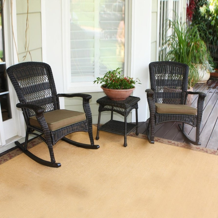 Shop Tortuga Outdoor Portside 3 Piece Wicker Frame Patio Inside Newest 3 Piece Patio Conversation Sets (View 18 of 20)
