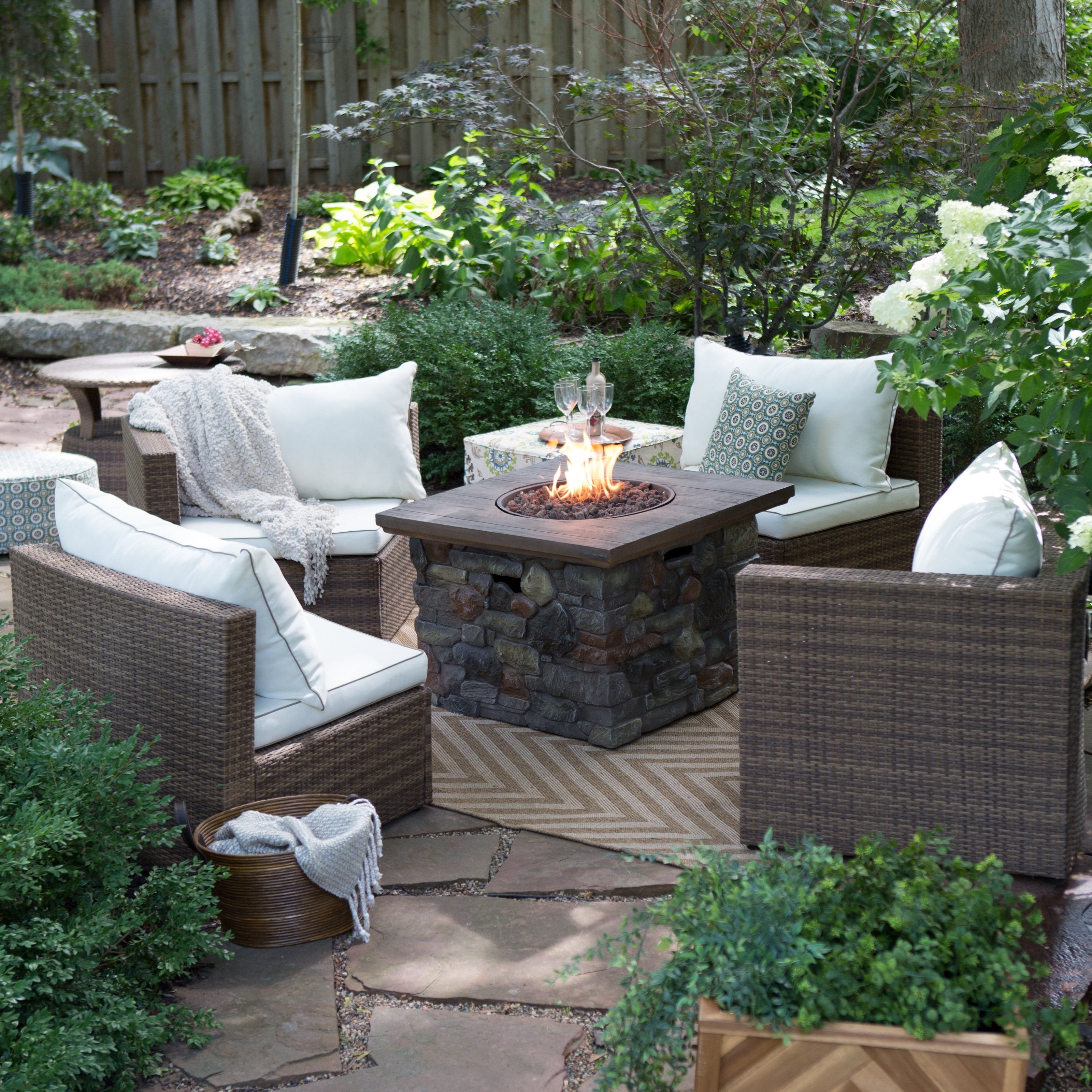 Skill Fire Pit Conversation Sets Decoration Firerock Smokeless Regarding Trendy Patio Conversation Sets With Fire Pit (View 18 of 20)