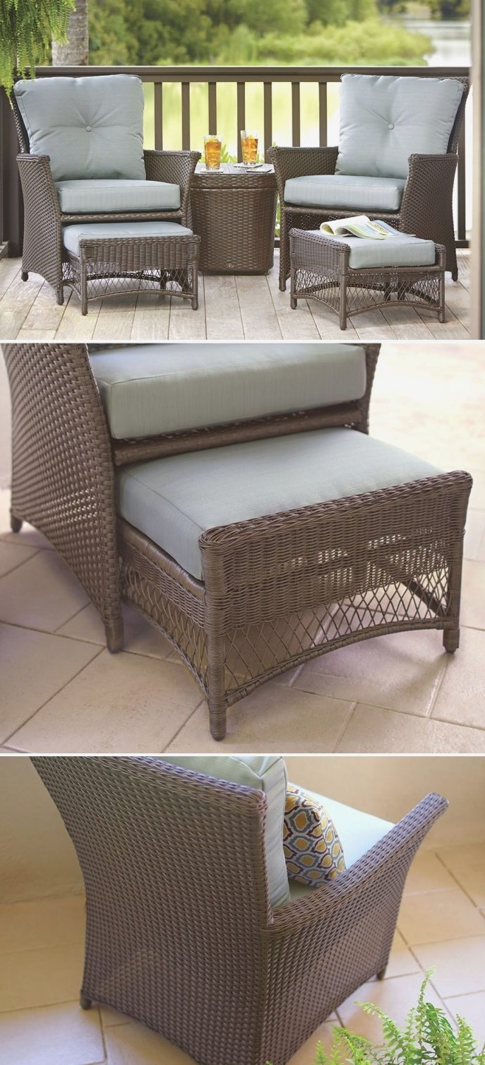 Small Patio Conversation Sets With Most Up To Date Fancy Small Outdoor Patio Set Wicker Furniture Interior Interior (View 17 of 20)