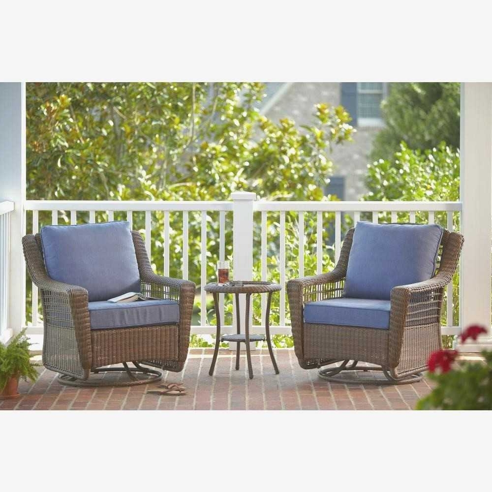 Small Space Patio Furniture Beautiful Blue Patio Conversation Sets Throughout Most Recently Released Patio Conversation Sets For Small Spaces (View 16 of 20)