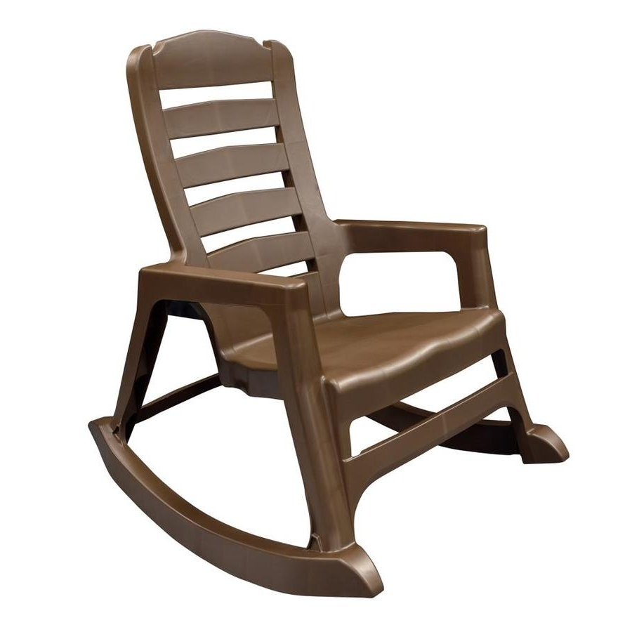 Stackable Patio Rocking Chairs Pertaining To Fashionable Shop Adams Mfg Corp Stackable Resin Rocking Chair At Lowes (View 2 of 20)