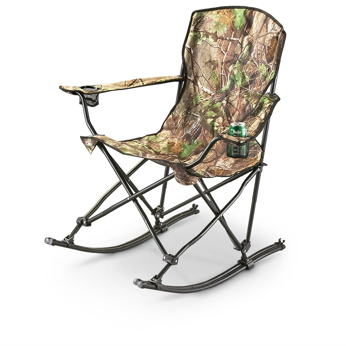 Stansport™ Team Realtree® Folding Rocking Chair – 178647, Chairs At Pertaining To Trendy Folding Rocking Chairs (View 15 of 20)