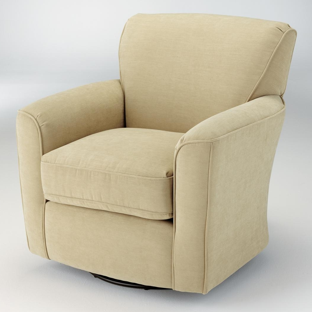 Swivel Rocking Chairs With Regard To Recent Best Home Furnishings Swivel Glide Chairs Kaylee Swivel Barrel Arm (View 9 of 20)