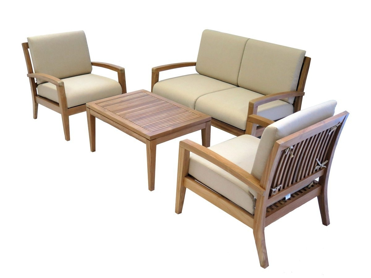 Teak Patio Conversation Sets For Fashionable Teak Archives – Best Patio Furniture Sets Online (View 13 of 20)