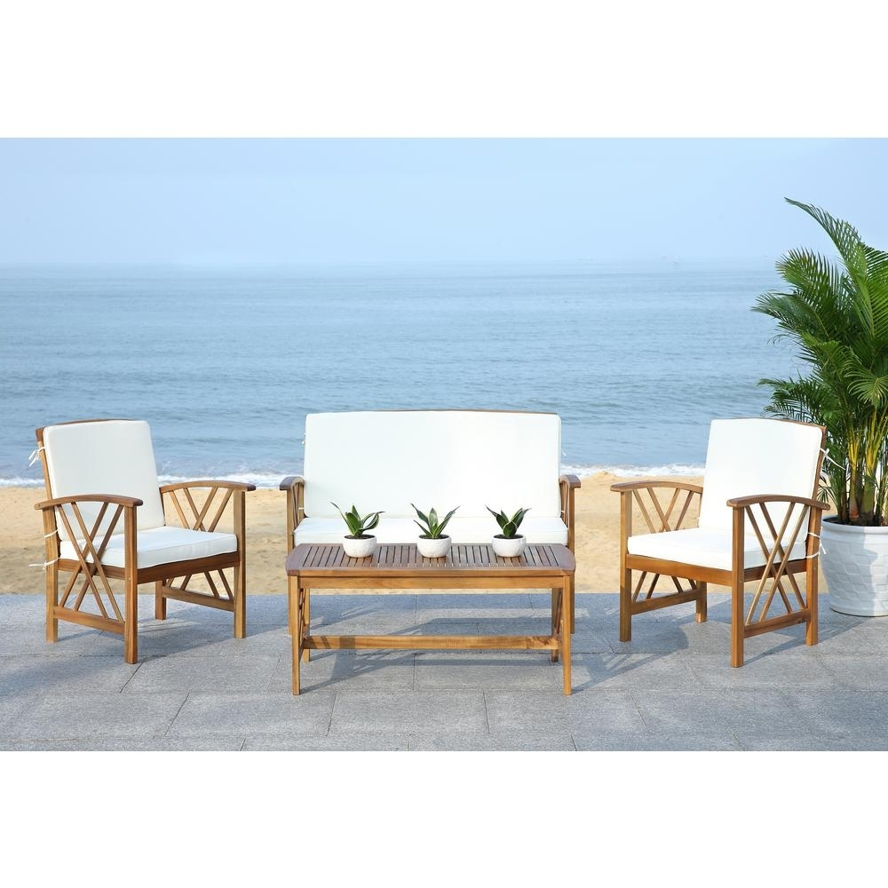 Teak – Patio Conversation Sets – Outdoor Lounge Furniture – The Home Inside Newest Teak Patio Conversation Sets (View 15 of 20)