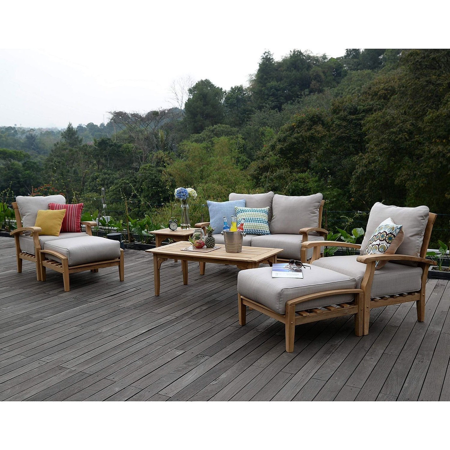Teak Patio Conversation Sets With Regard To Current Sams Club Teak Patio Furniture – Home Design And Architecture Styles (View 15 of 20)