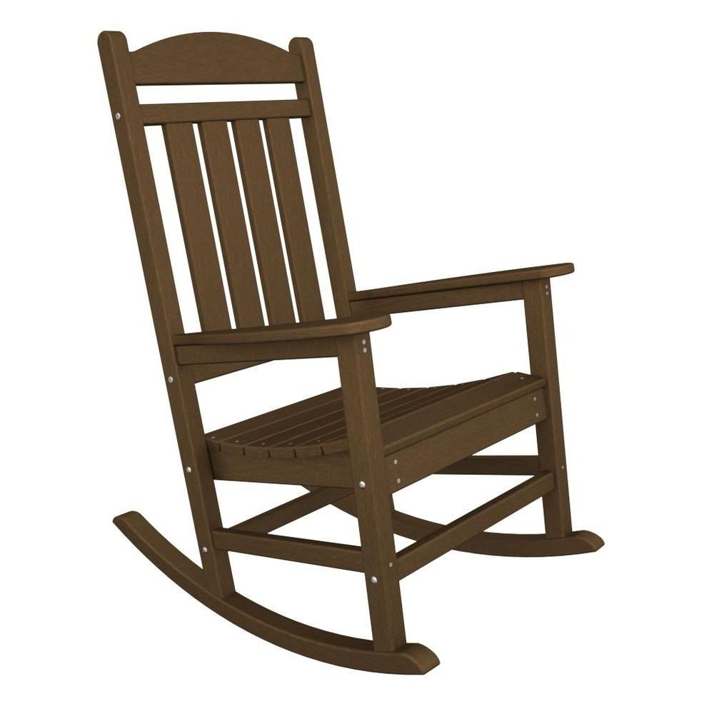 Teak Patio Rocking Chairs For Most Recent Polywood Presidential Teak Patio Rocker R100Te – The Home Depot (View 14 of 20)