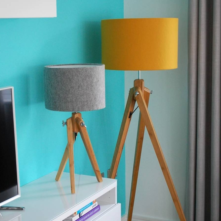 Teal Living Room Table Lamps In Latest Rare Floor Lamp With Table And Planterkerst Koopman For Sale (View 11 of 20)