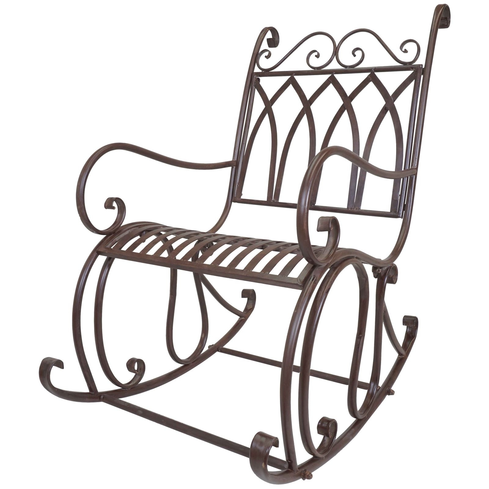 Titan Outdoor Metal Rocking Chair White Porch Patio Garden Seat Deck Intended For Current Patio Metal Rocking Chairs (View 11 of 20)