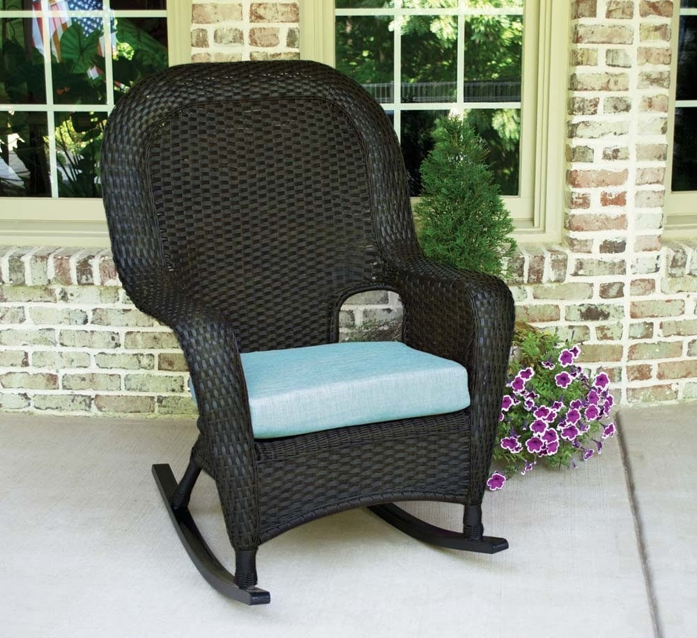 Tortuga Outdoor Lexington Wicker Rocker – Wicker Within Newest Patio Rocking Chairs And Table (View 16 of 20)