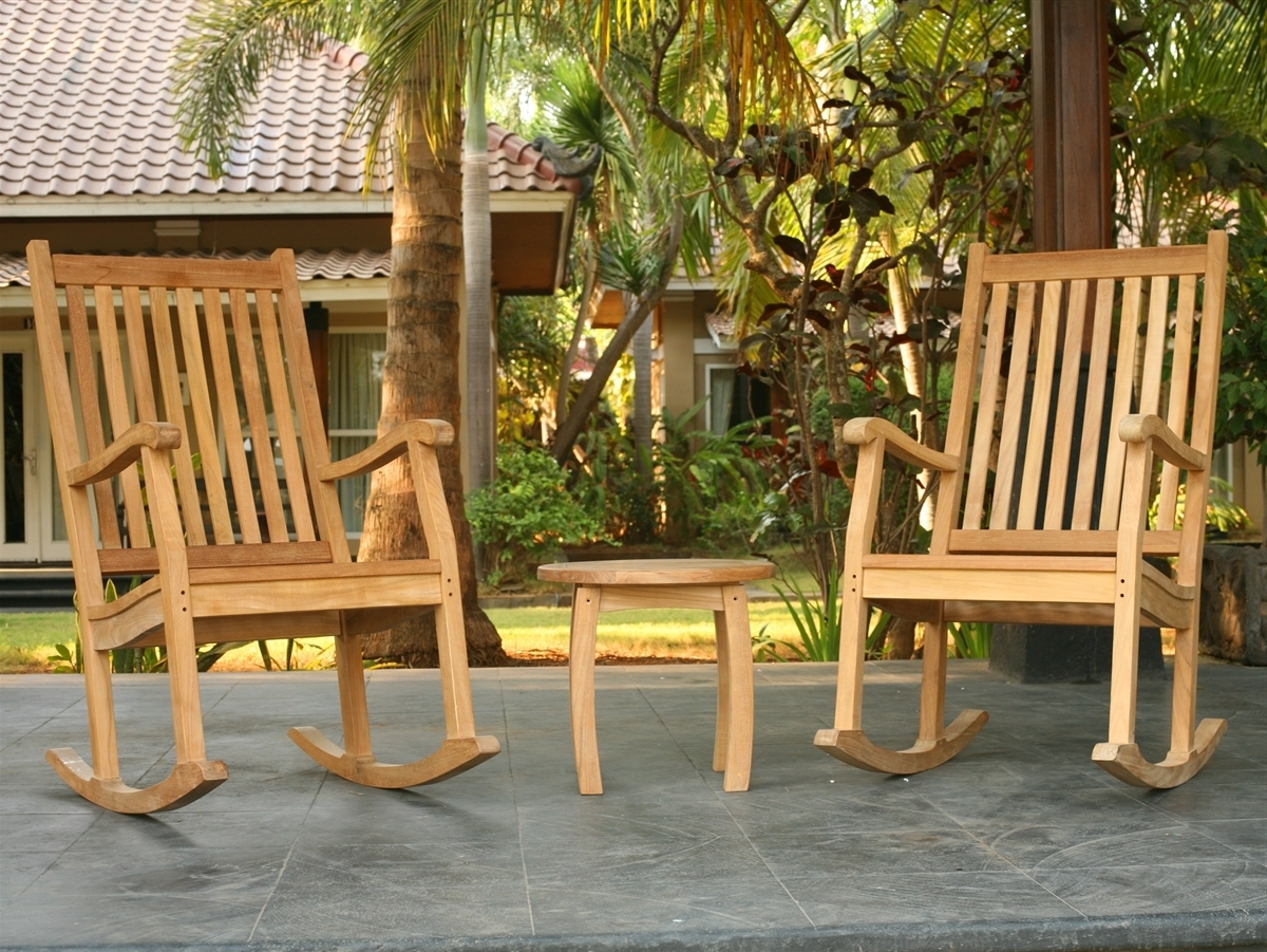 Tortuga Outdoor Within Teak Patio Rocking Chairs (View 18 of 20)