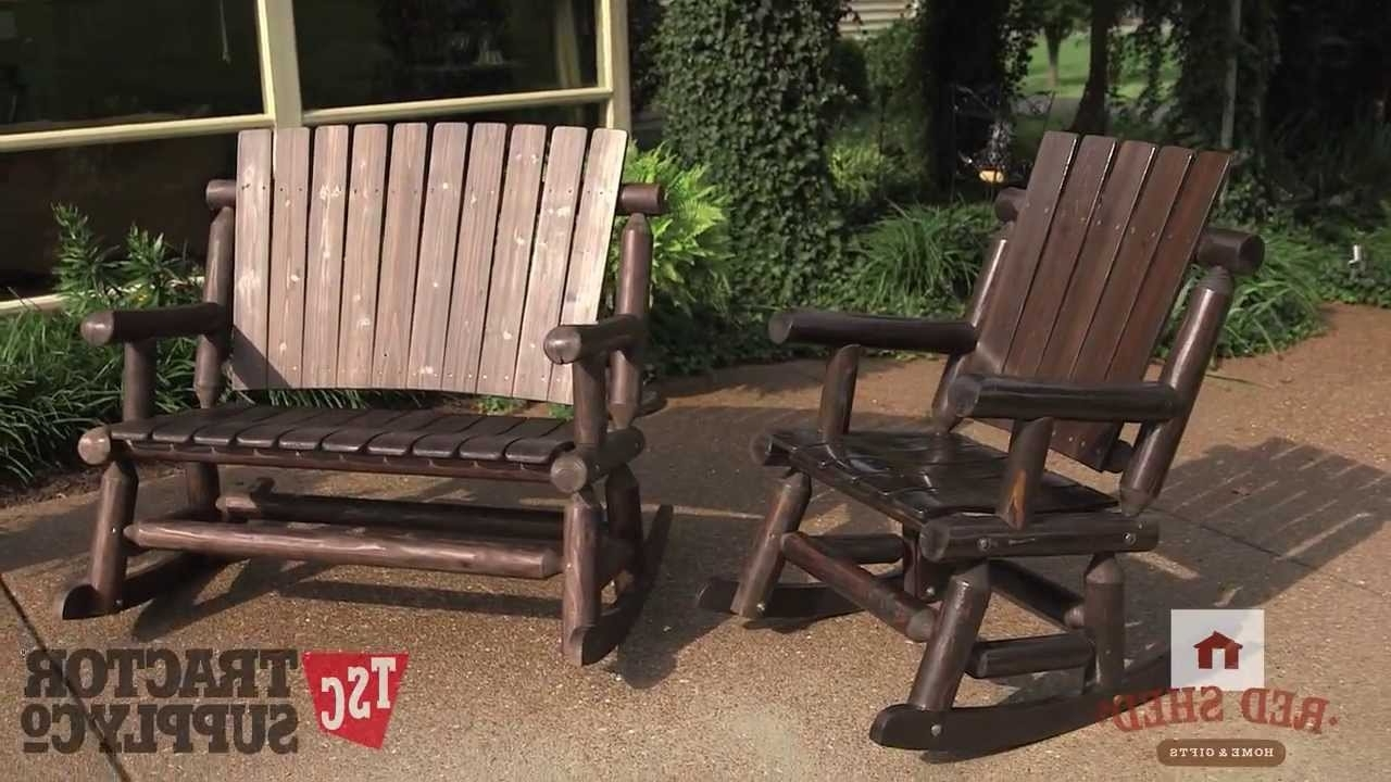 Tractor Supply's Red Shed Out Door Furniture – Youtube Regarding Most Recent Red Patio Rocking Chairs (View 17 of 20)