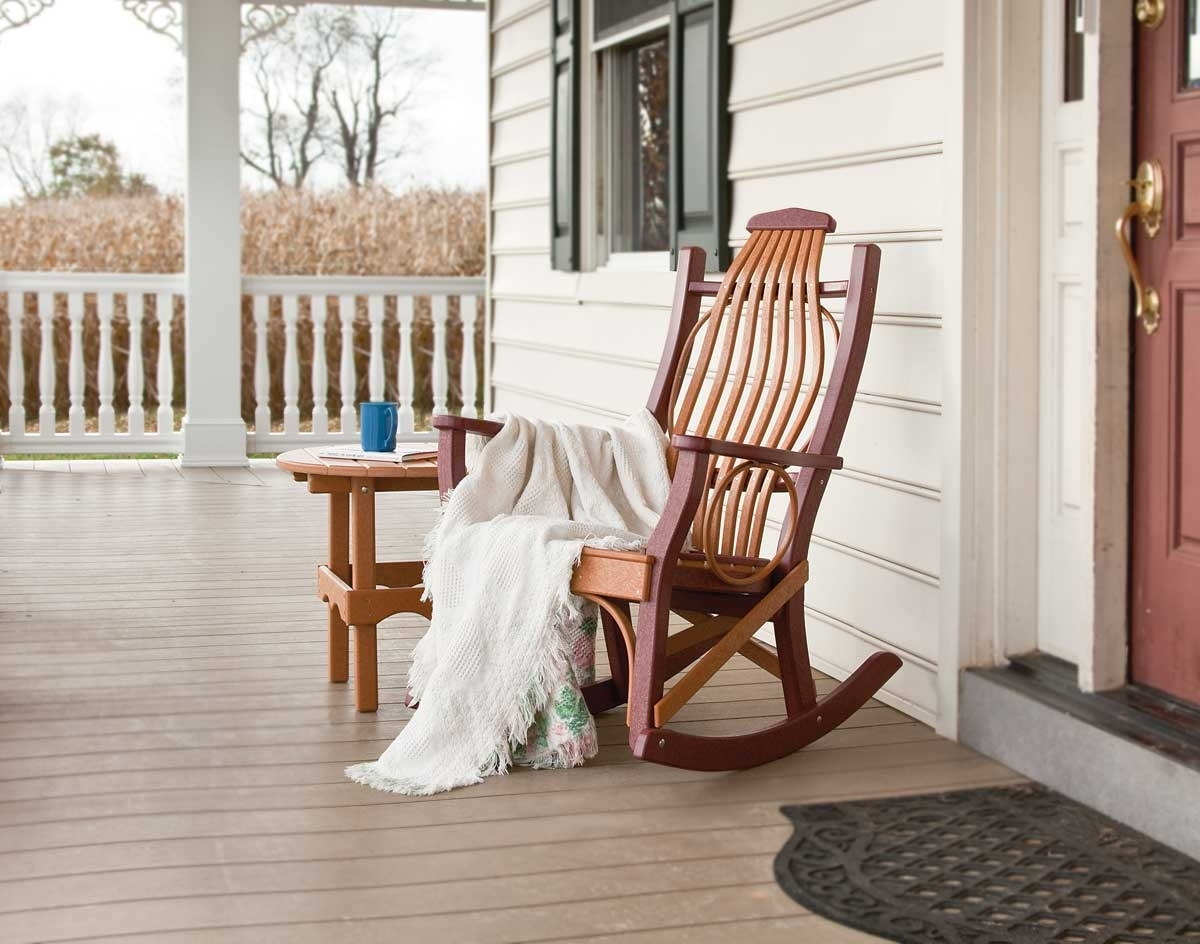 Trendy All Weather Patio Rocking Chairs With Nifty White Rocking Chair Porch F11X In Rustic Designing Home (View 16 of 20)