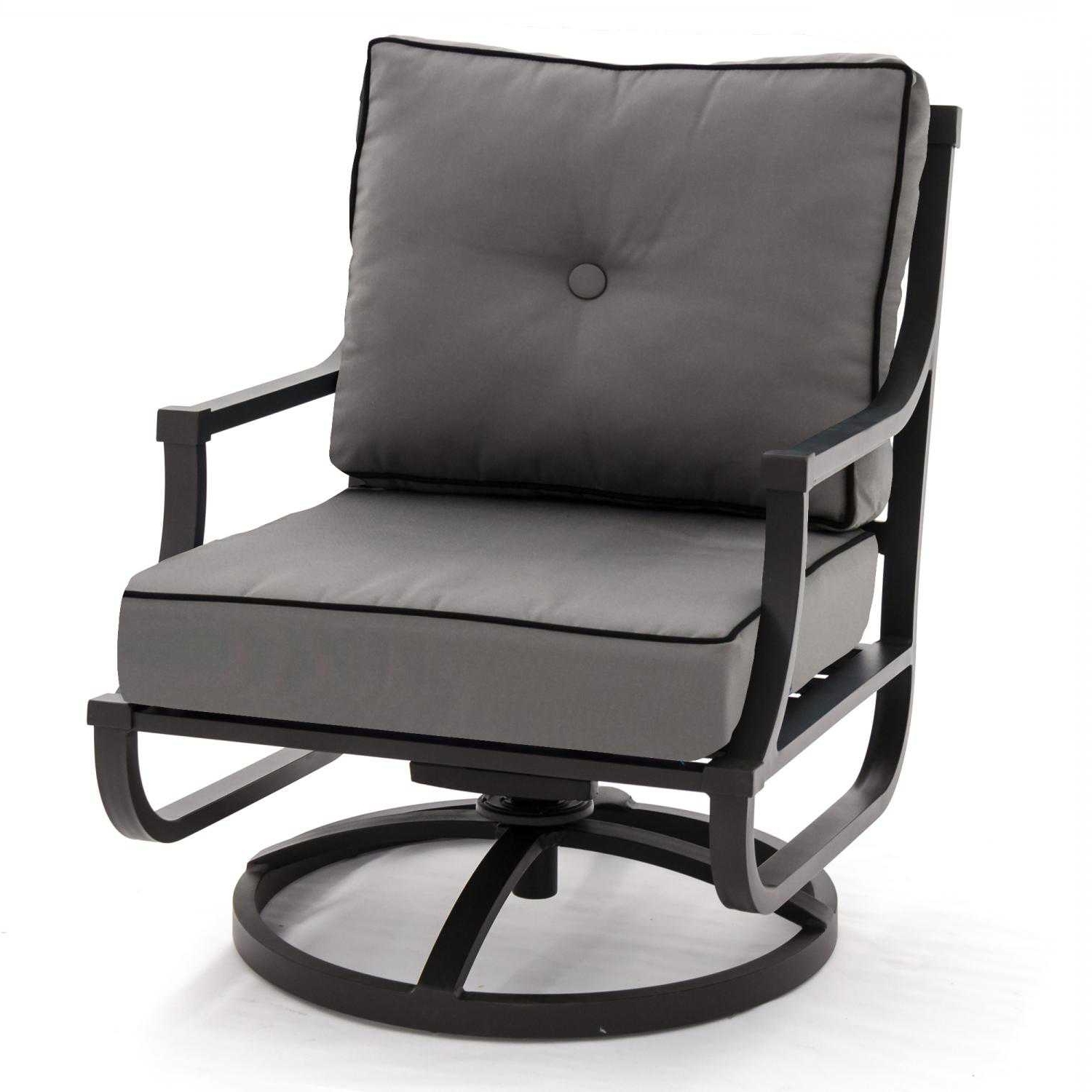 Trendy Aluminum Patio Rocking Chairs In Swivel Rocking Chairs For Patio – Interperform (View 17 of 20)