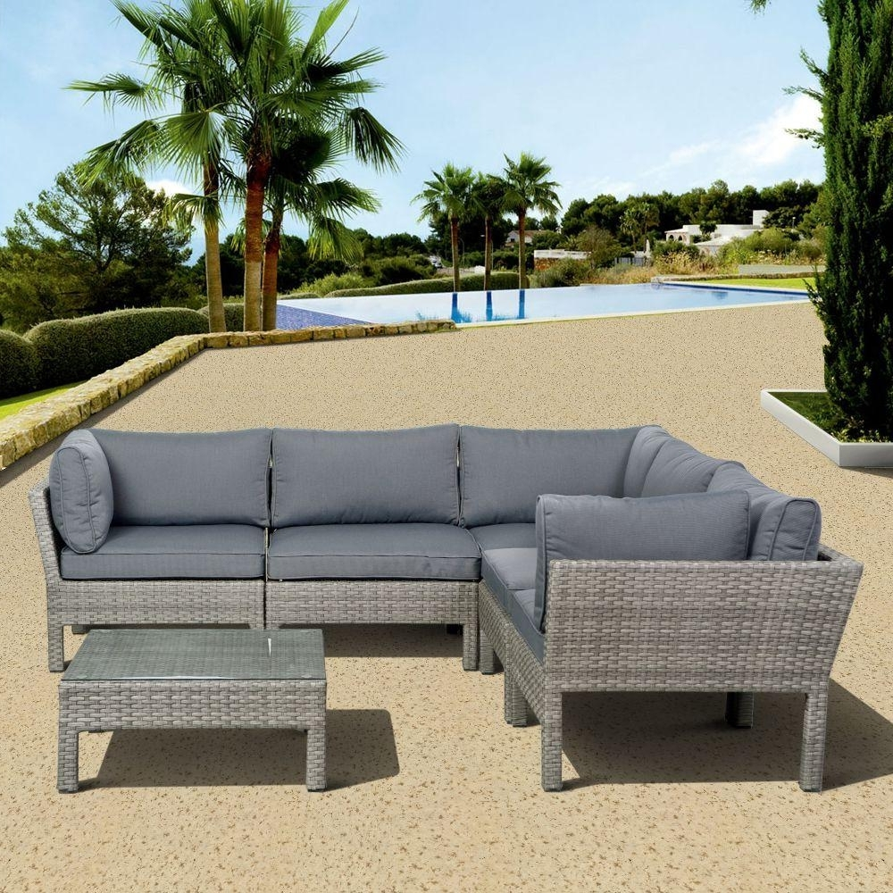 Trendy Atlantic Contemporary Lifestyle Infinity Gray 6 Piece All Weather Regarding Gray Patio Conversation Sets (View 17 of 20)