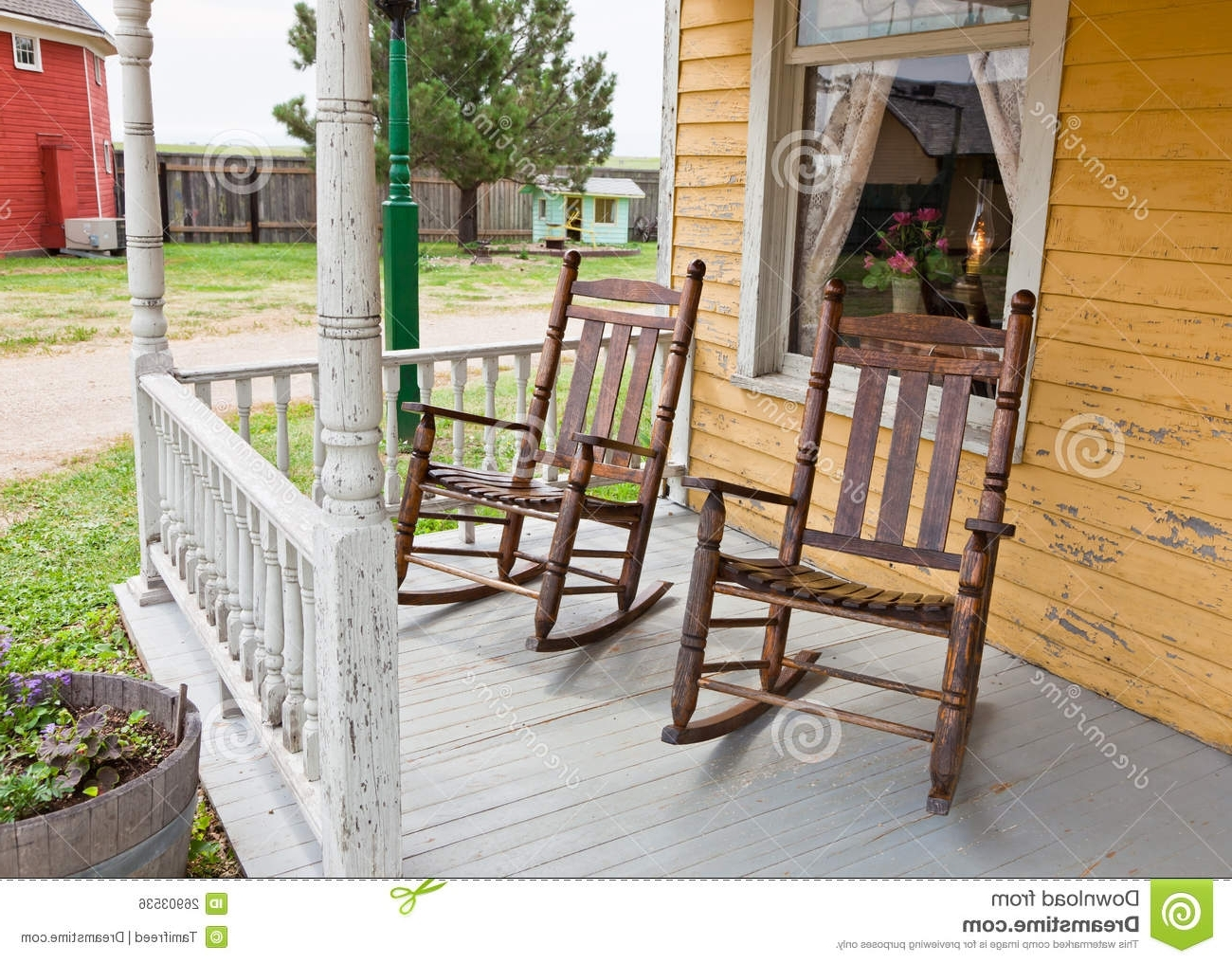 Trendy Front Porch Rocking Chairs Stock Photo (View 8 of 20)