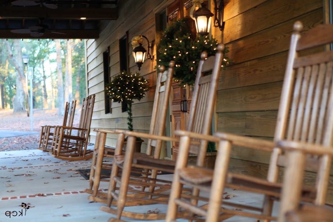 Trendy Front Porch Rocking Chairs – The Belle House Inside Rocking Chairs For Front Porch (View 15 of 20)