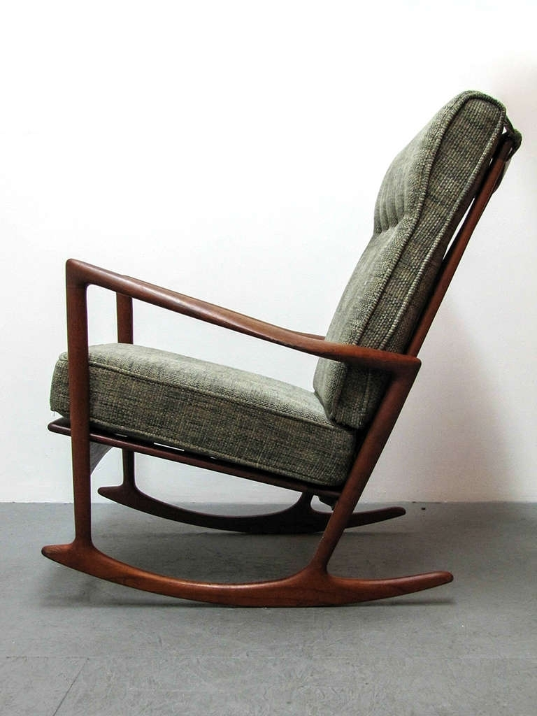 Trendy High Back Rocking Chairs With Regard To Ib Kofod Larsen Rocking Chair At 1Stdibs (View 19 of 20)