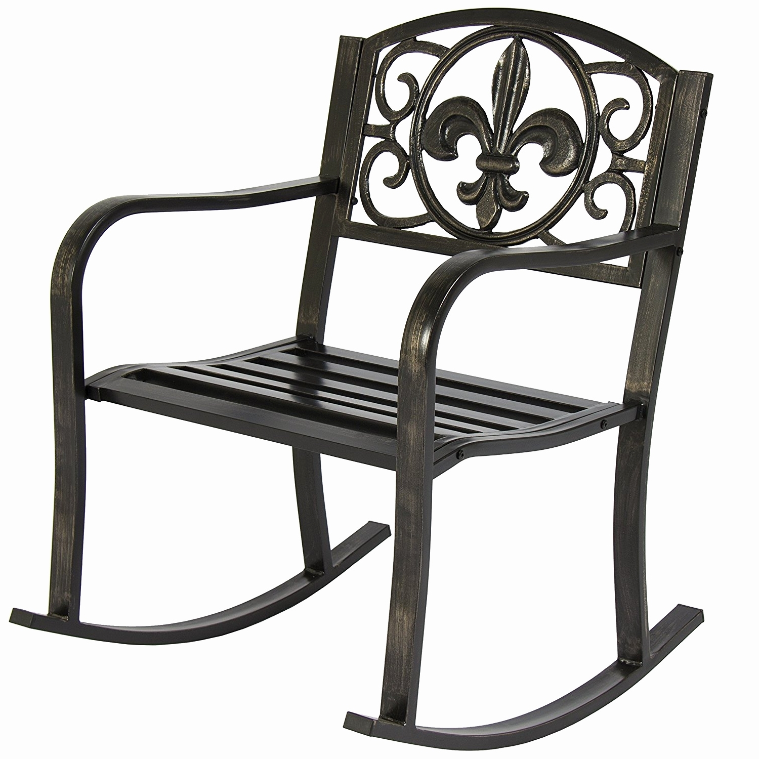 Trendy Iron Rocking Patio Chairs For Wrought Iron Rocking Chair New Metal Patio Chairs Home Design Ideas (View 16 of 20)