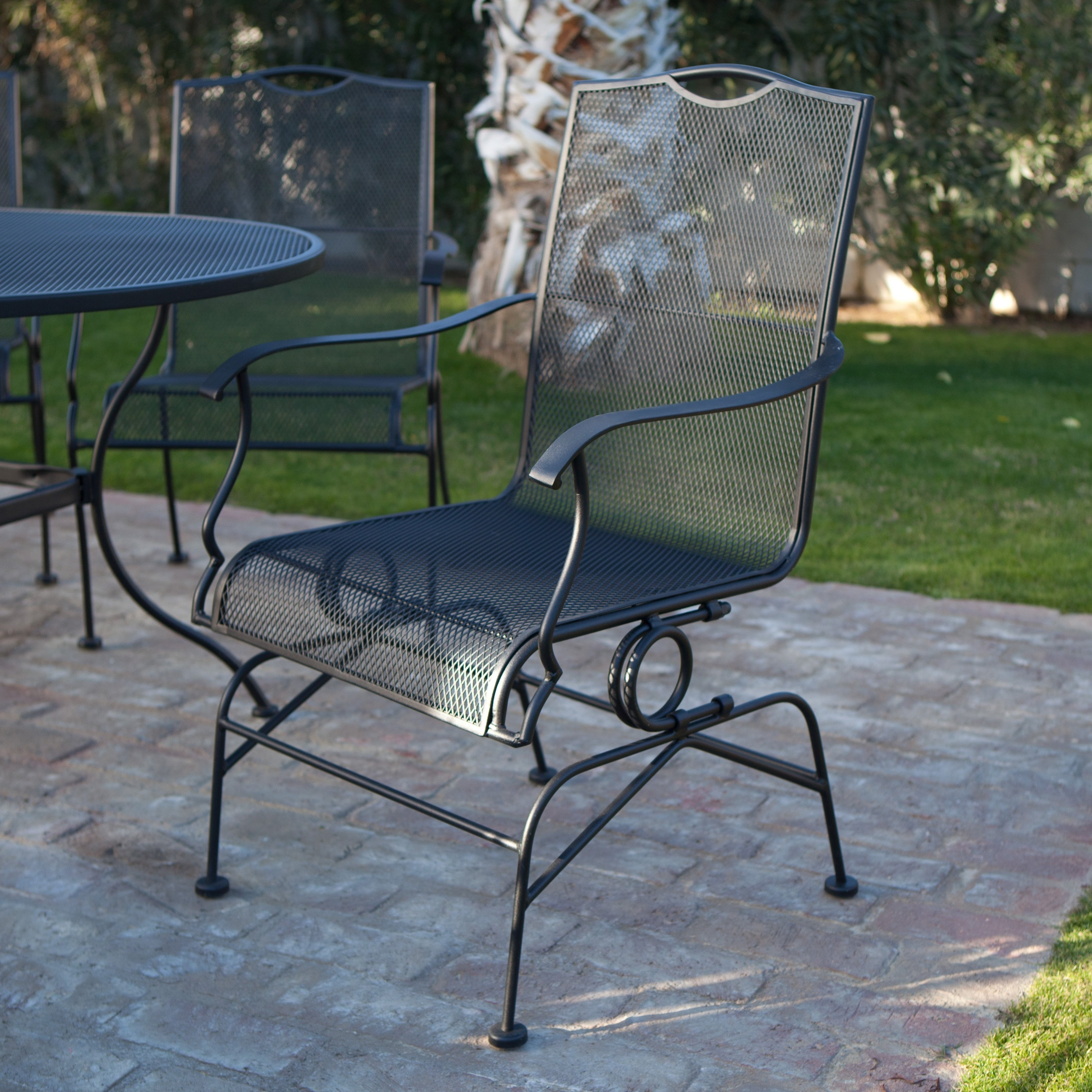 Trendy Lawn Furniture Near Me 38 Deck Outdoor Table And Chairs Regarding Most Current Wrought Iron Patio Rocking Chairs (View 18 of 20)