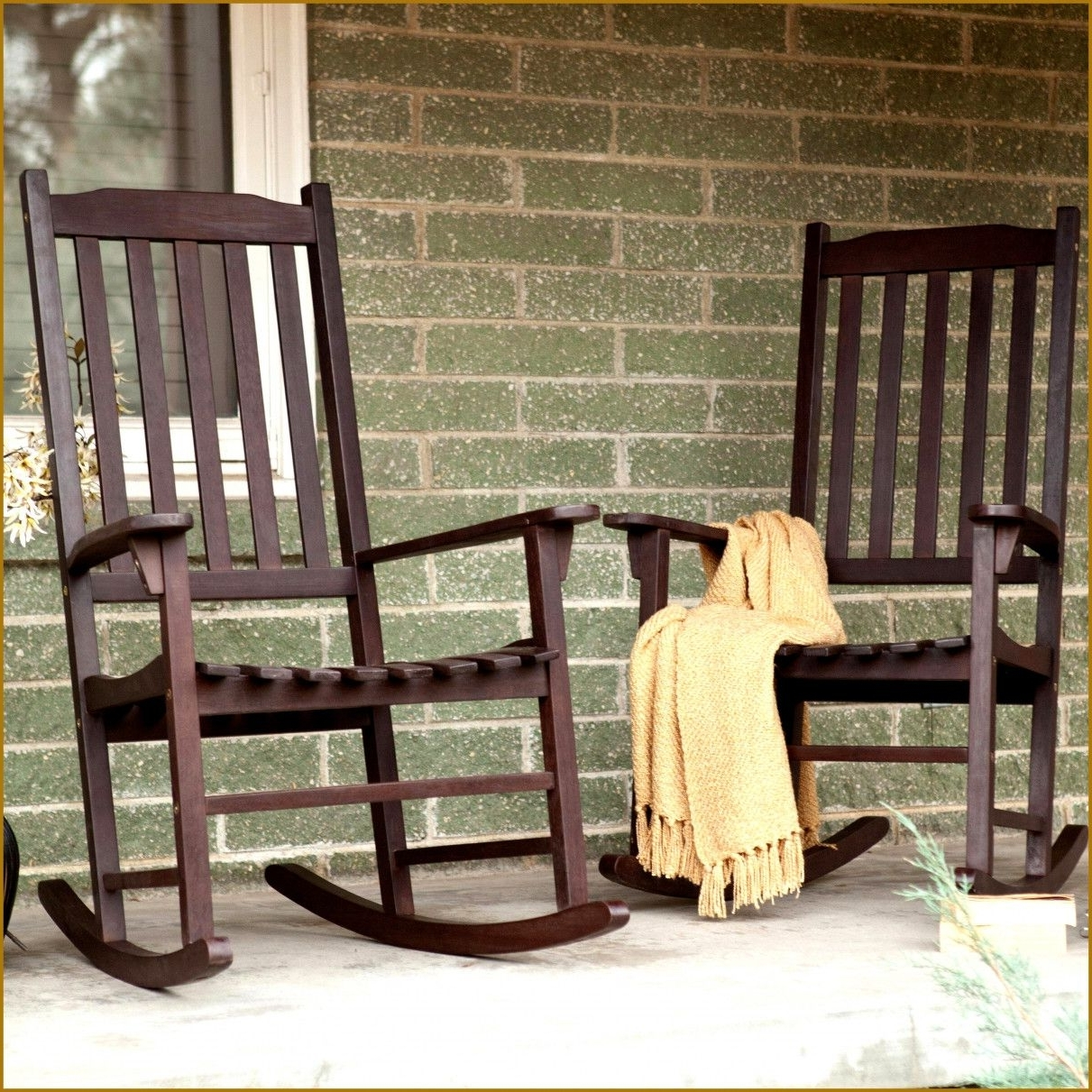 Trendy Outdoor Armless Rocking Chair White Double Porch Rocker Oak Vinyl Inside Antique Wicker Rocking Chairs With Springs (View 18 of 20)