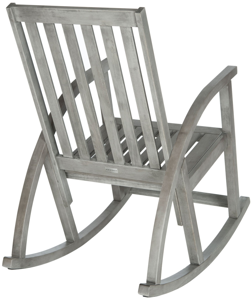 Trendy Outdoor Rocking Chairs Furniture Safavieh Back Gray Chair Zen Wooden Throughout Zen Rocking Chairs (View 11 of 20)