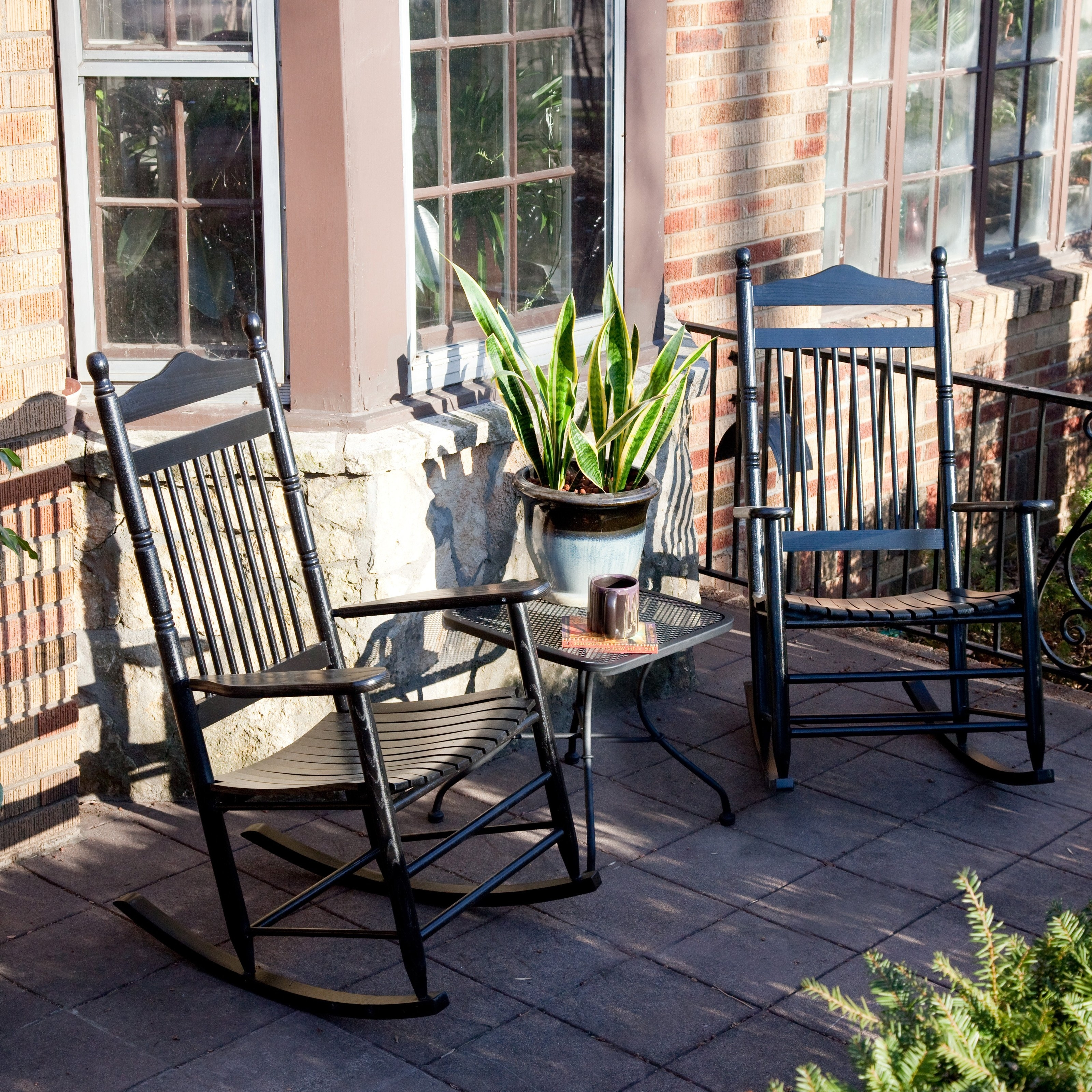 Trendy Outdoor Rocking Chairs With Table Within Dixie Seating Wrightsville Indoor Outdoor Slat Rocking Chairs Wicker (View 14 of 20)