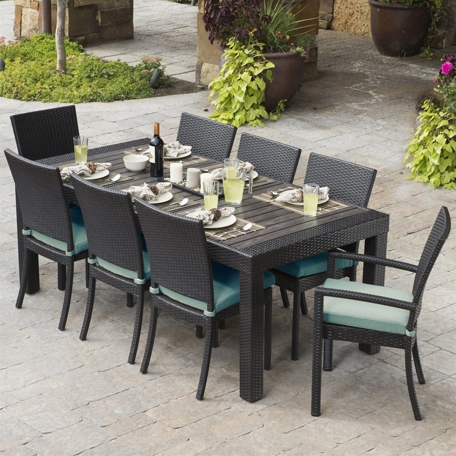 Trendy Patio Conversation Sets With Dining Table Throughout Shop Patio Dining Sets At Lowes (View 20 of 20)