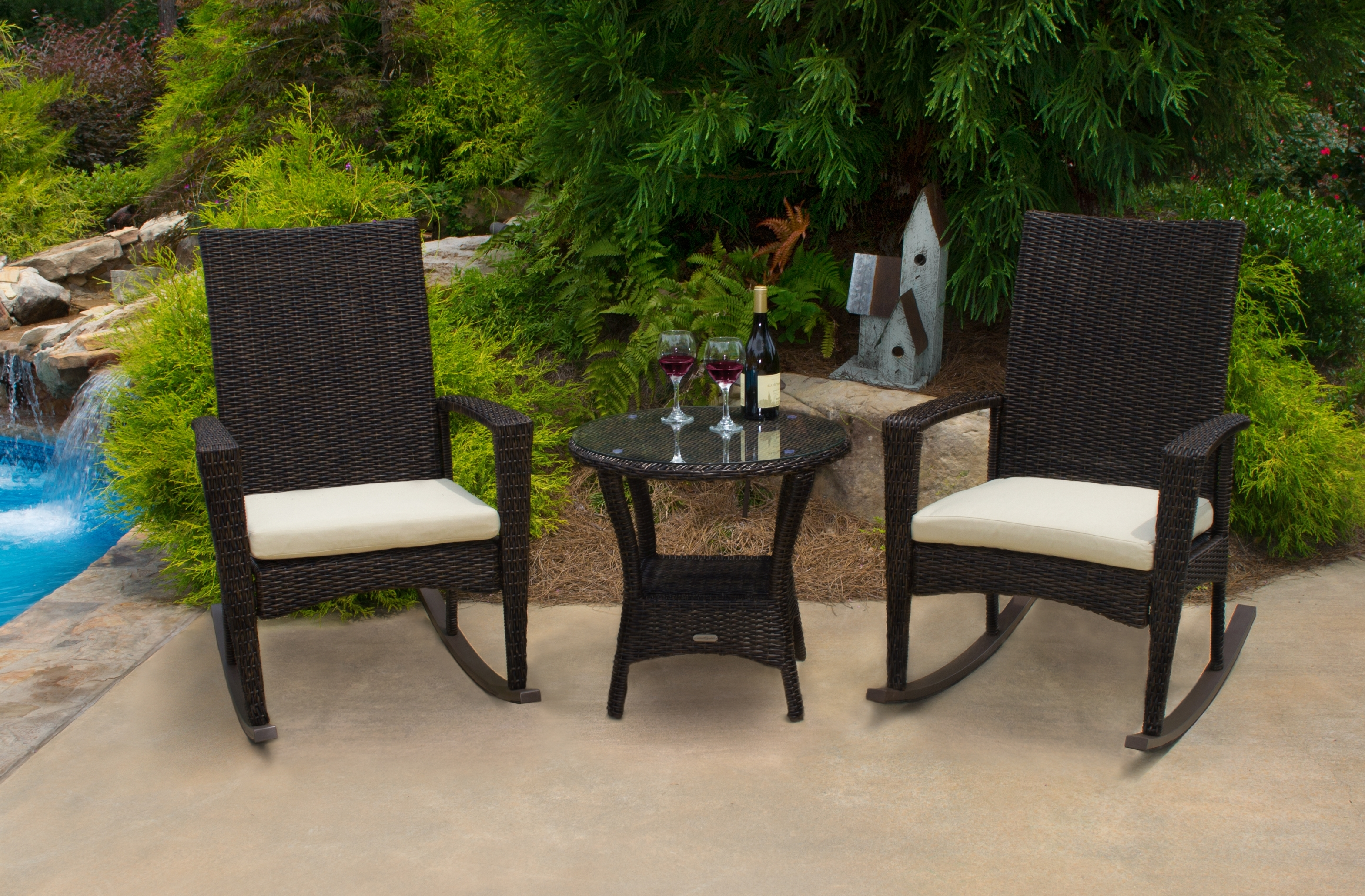 Trendy Patio Rocking Chairs And Table Within Rocking Chairs – Tortuga Outdoor Of Georgia – Alpharetta (View 18 of 20)