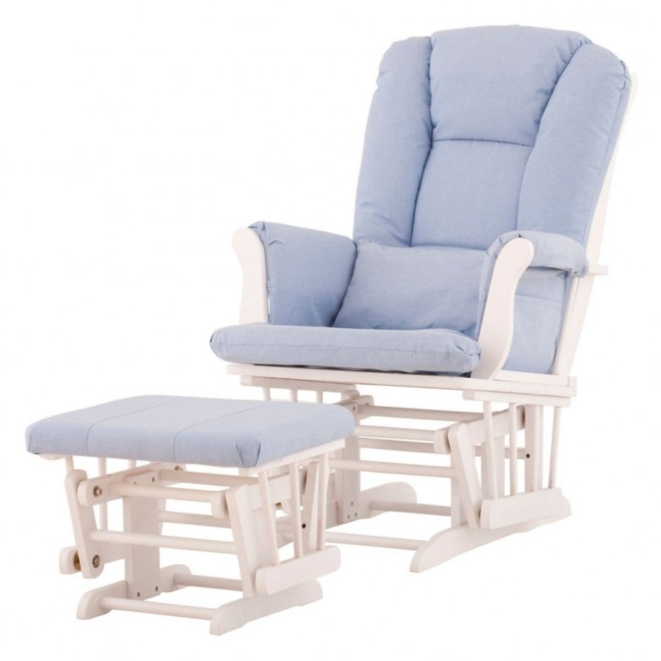 Trendy Rocking Chair Design: Rocking Chair Footstool Baby Nursery Rocker Intended For Rocking Chairs With Footrest (View 16 of 20)