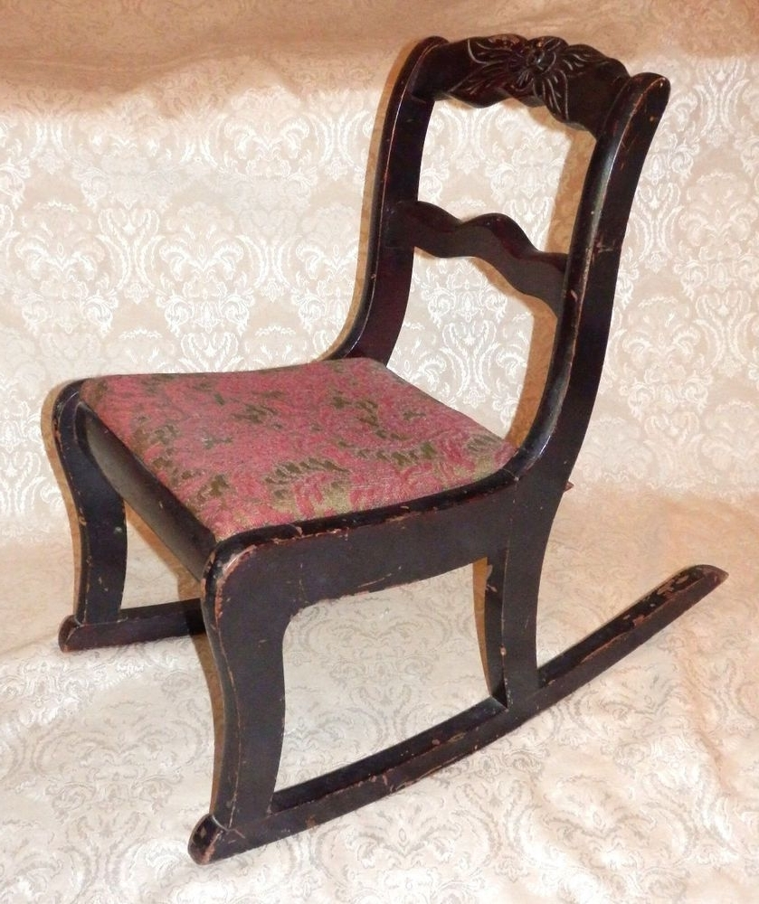 Trendy Rocking Chairs At Roses Regarding Vintage Tell City Mahogany Duncan Phyfe Carved Rose Childs Rocker (View 18 of 20)