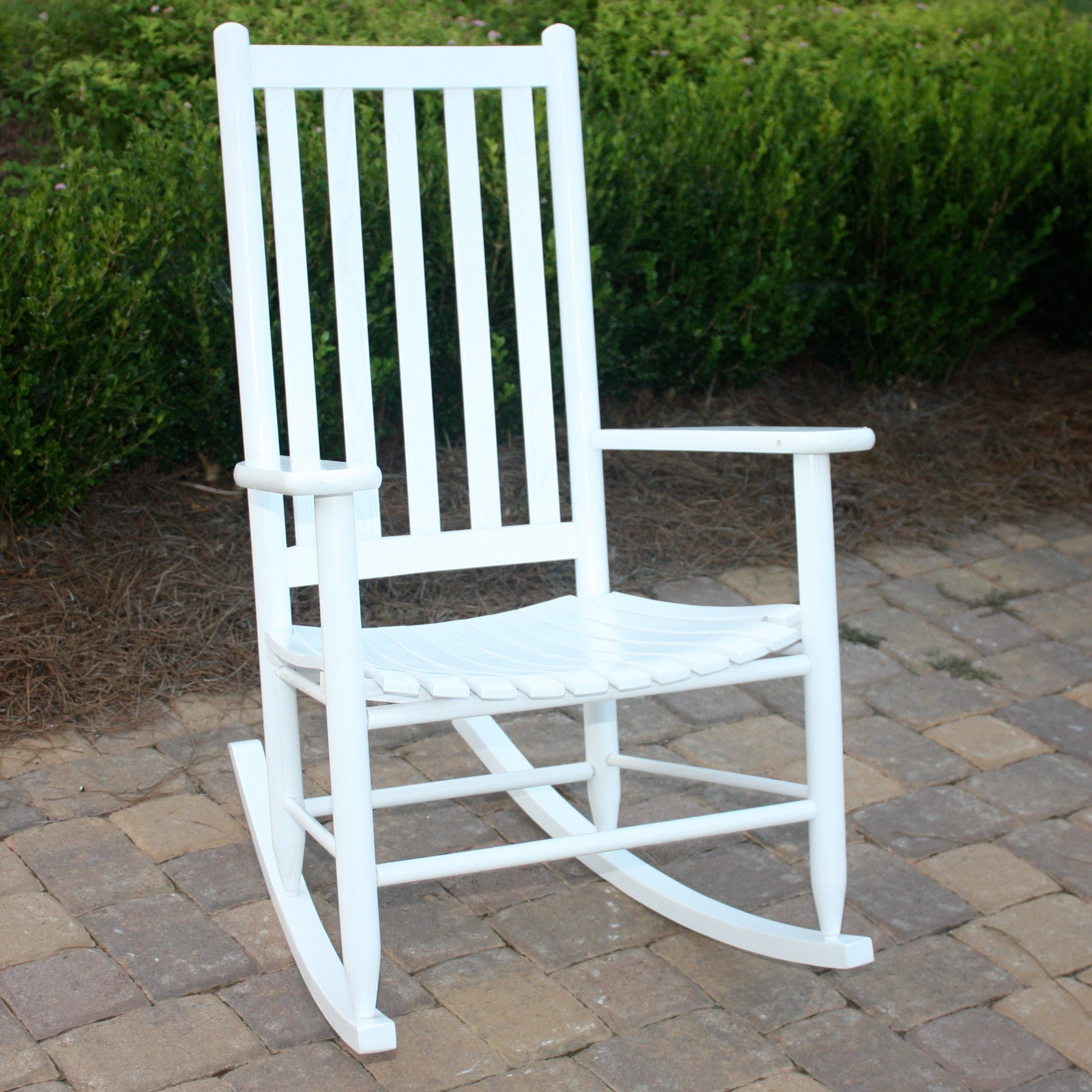 Trendy Rocking Chairs For Porch Intended For Dixie Seating Georgetown Hickory Outdoor Slat Rocking Chair Chairs (View 16 of 20)
