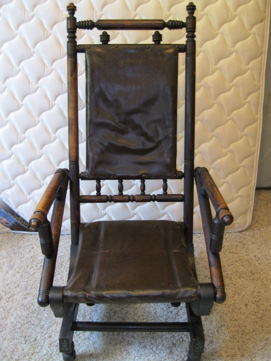 Trendy Rocking Chairs With Springs In Antique Rocking Chair From The 1800's (View 3 of 20)