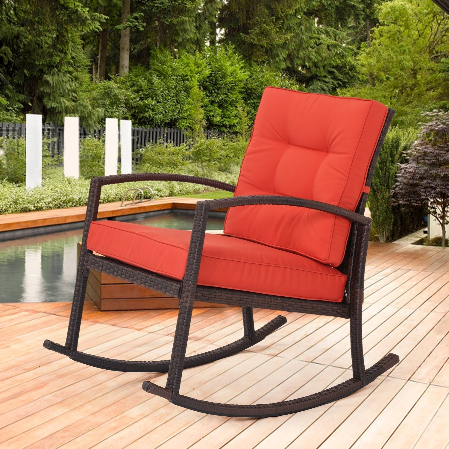 Trendy Stackable Patio Rocking Chairs Pertaining To Patio : Patio Furniture Cushions Matching Umbrella Lovely Furniture (View 14 of 20)