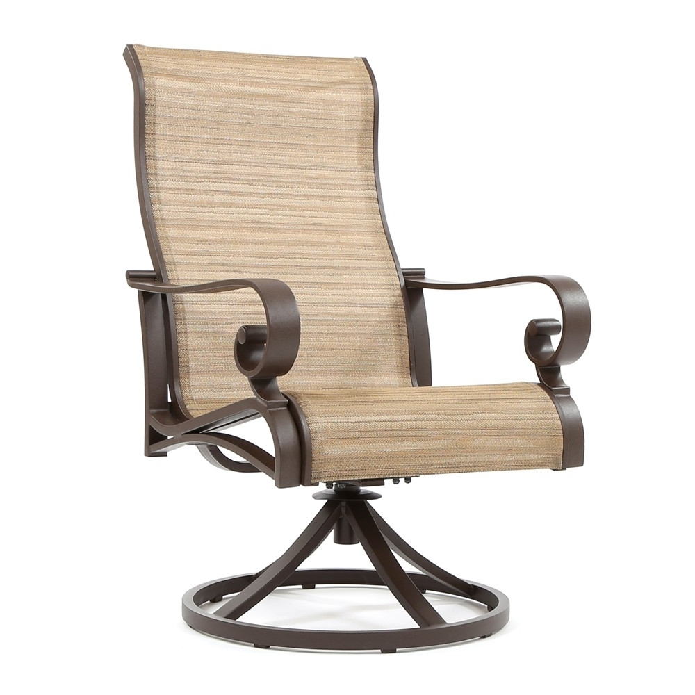 Trendy Sunvilla Riva Sling High Back Swivel Rocker Regarding Patio Sling Rocking Chairs (View 17 of 20)