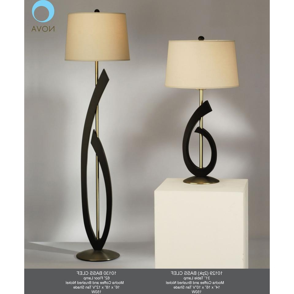 Trendy Table Lamps For Living Room Regarding Bass Clef Table Lamp Home Interior Design Ideashome Most Comfortable (View 19 of 20)