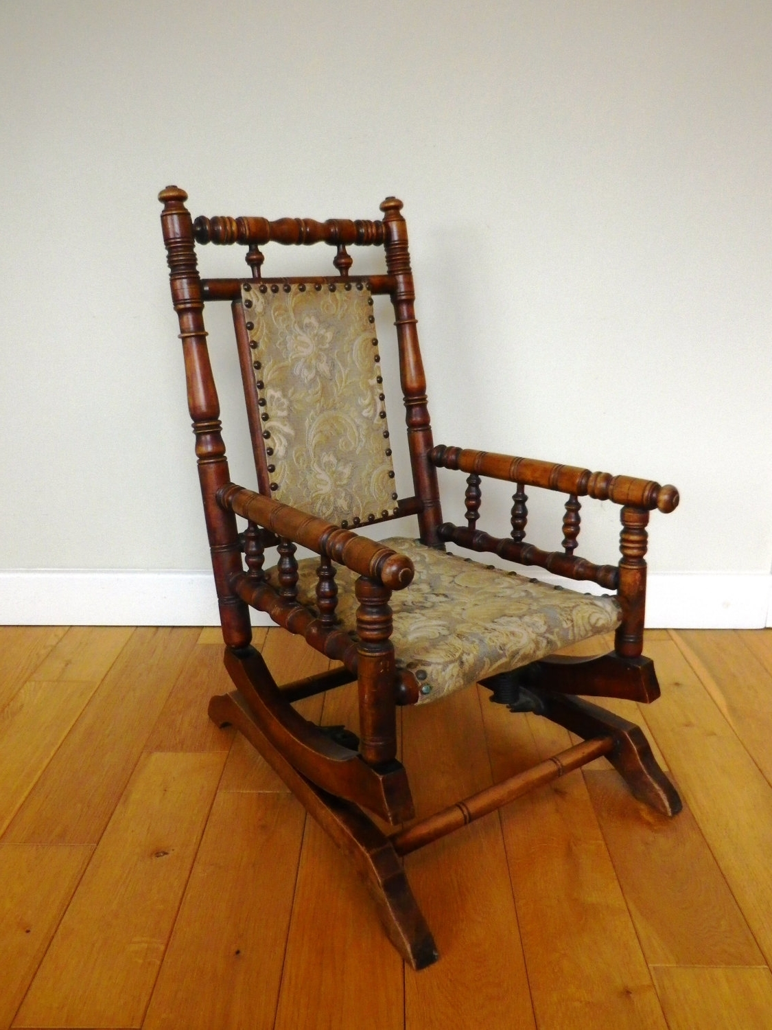 Trendy Victorian Rocking Chairs With Regard To Antique Rocking Chair Late 19th Century Oak And Beech Child's (View 14 of 20)