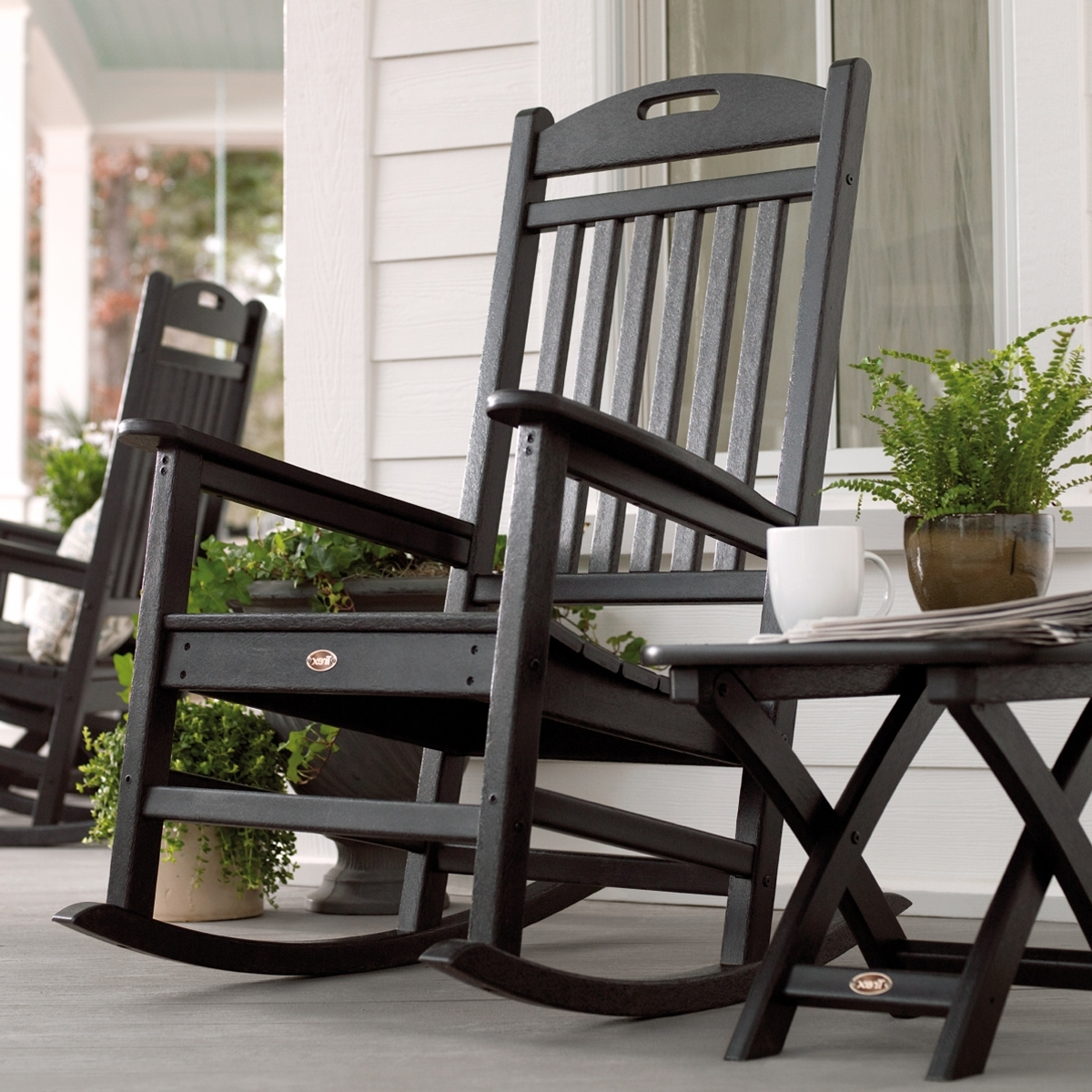 Trex Outdoor Furniture Txr100 Yacht Club Outdoor Rocking Chair Regarding Most Up To Date Rona Patio Rocking Chairs (View 9 of 20)