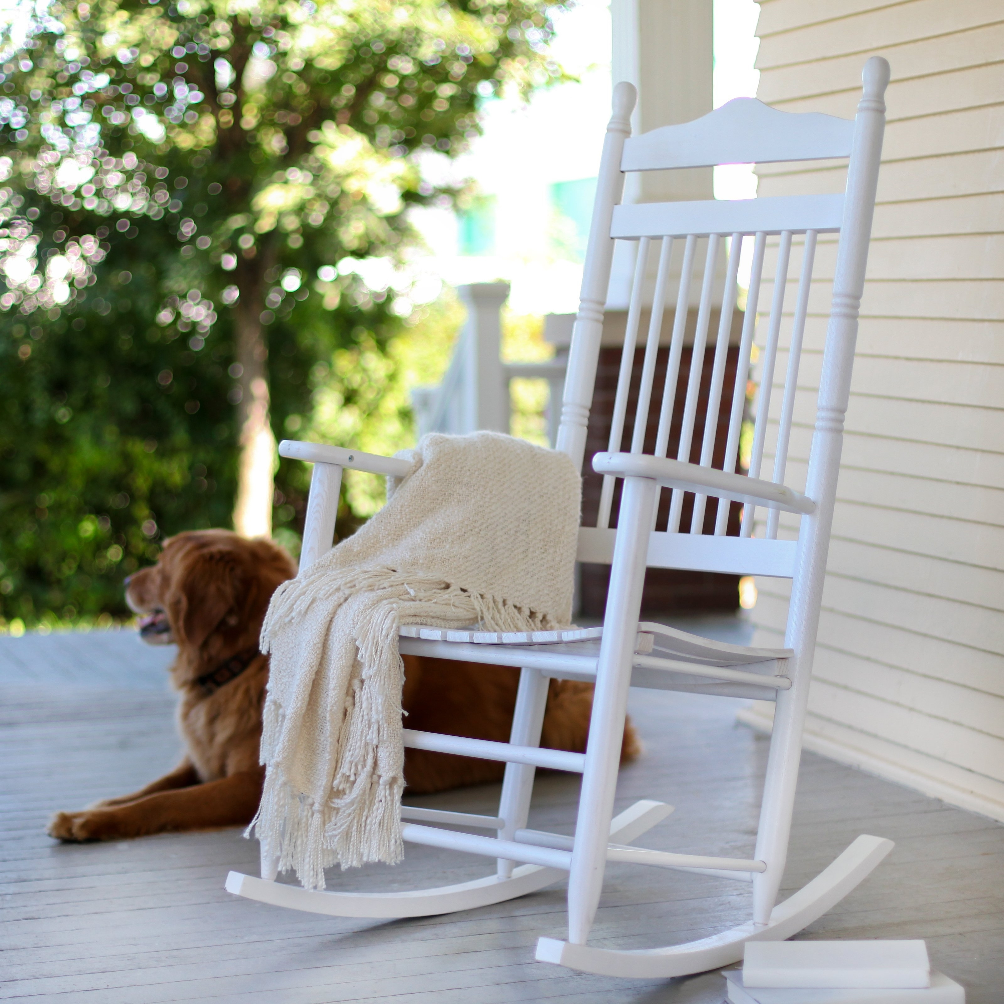 Unique Outdoor Rocking Chairs Pertaining To Trendy White Rocking Chair Helps Your Infant To Fall Asleep – Pickndecor (View 16 of 20)
