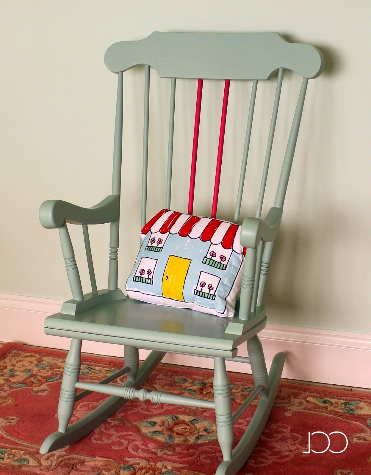 Upcycled Rocking Chairs Pertaining To Well Known Upcycling Project – A Chair Painted In Craig & Rose, Red Barn Chalk (View 13 of 20)