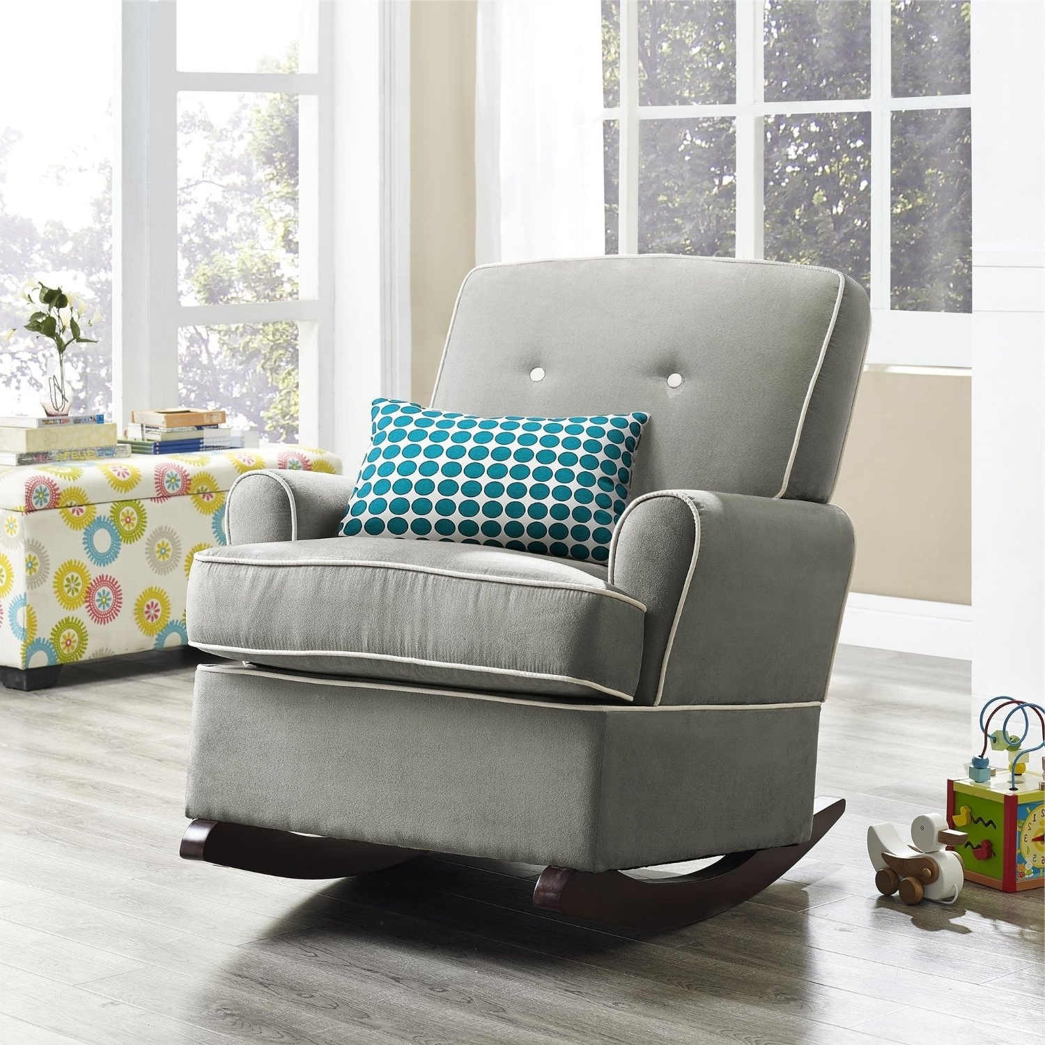Upholstered Rocking Chairs Intended For Well Known The Best Upholstered Rocking Chair  (View 11 of 20)