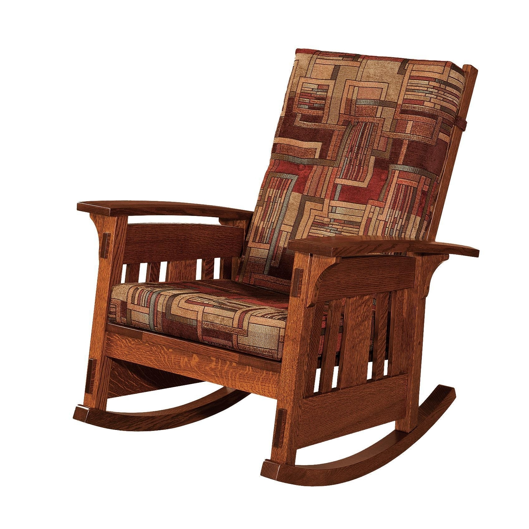 Upholstered Rocking Chairs Pertaining To 2018 Mccoy Mission Upholstered Rocking Chair From Dutchcrafters Amish (Gallery 15 of 20)