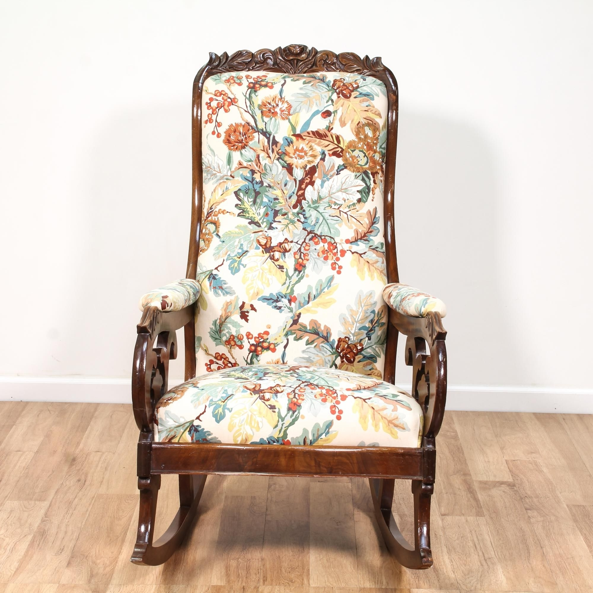 Victorian Rocking Chairs For Recent This Victorian Rocking Chair Is Featured In A Solid Wood With A (View 16 of 20)