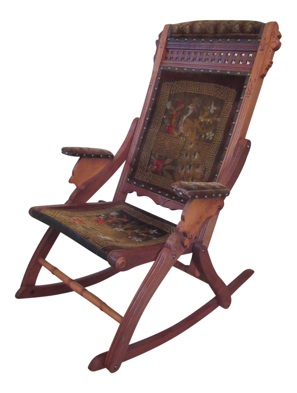 Victorian Rocking Chairs Regarding Favorite Vintage Used Wood Rocking Chairs Chairish Antique Wooden Victorian (View 18 of 20)