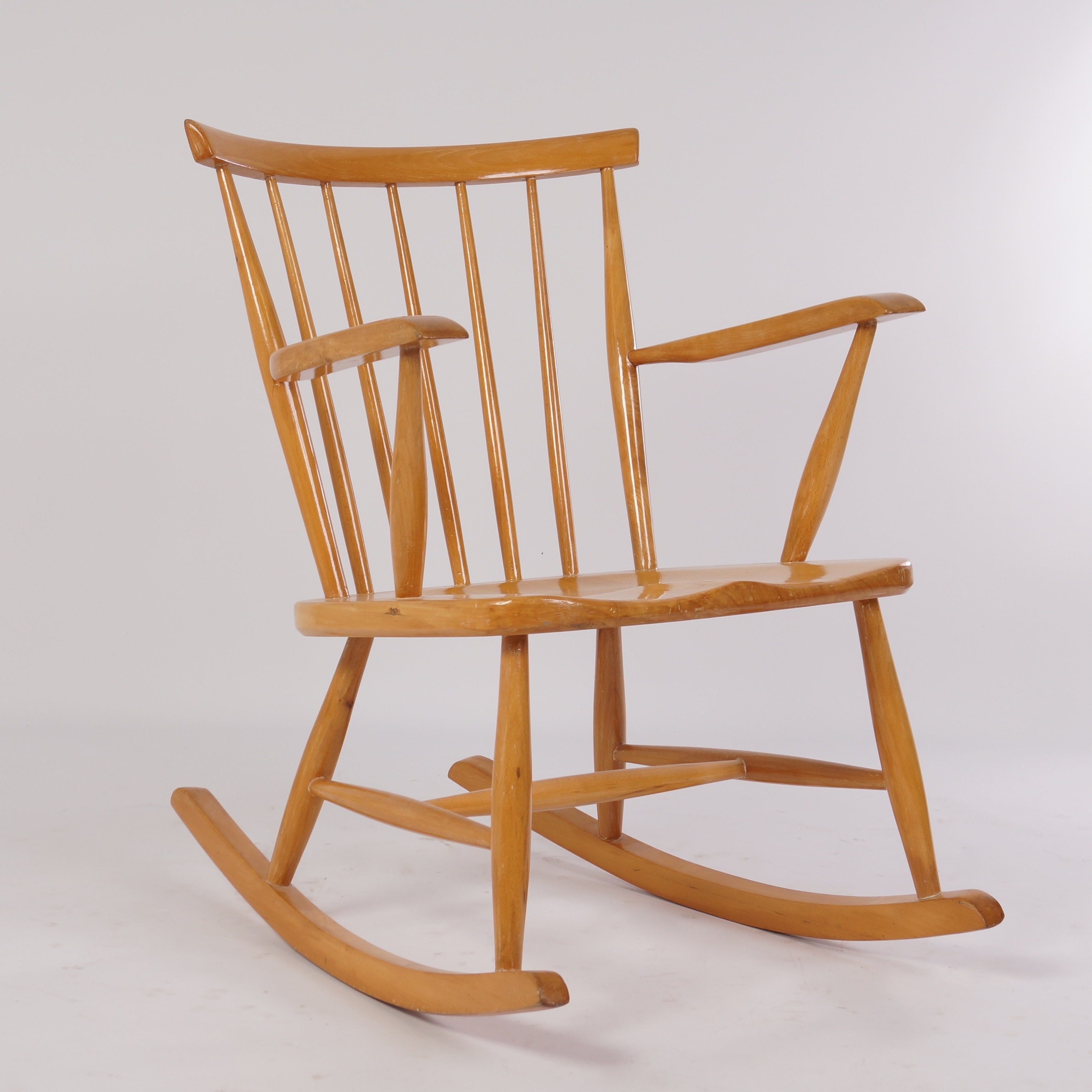 Vintage Birch Wood Rocking Chair From The 60S (Gallery 9 of 20)