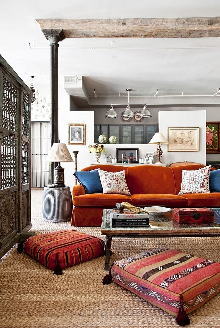 Vintage Living Room Table Lamps Pertaining To Popular Bedrooms : Vintage Room With Lampshade Unite Table Lamps And Orange (View 14 of 20)