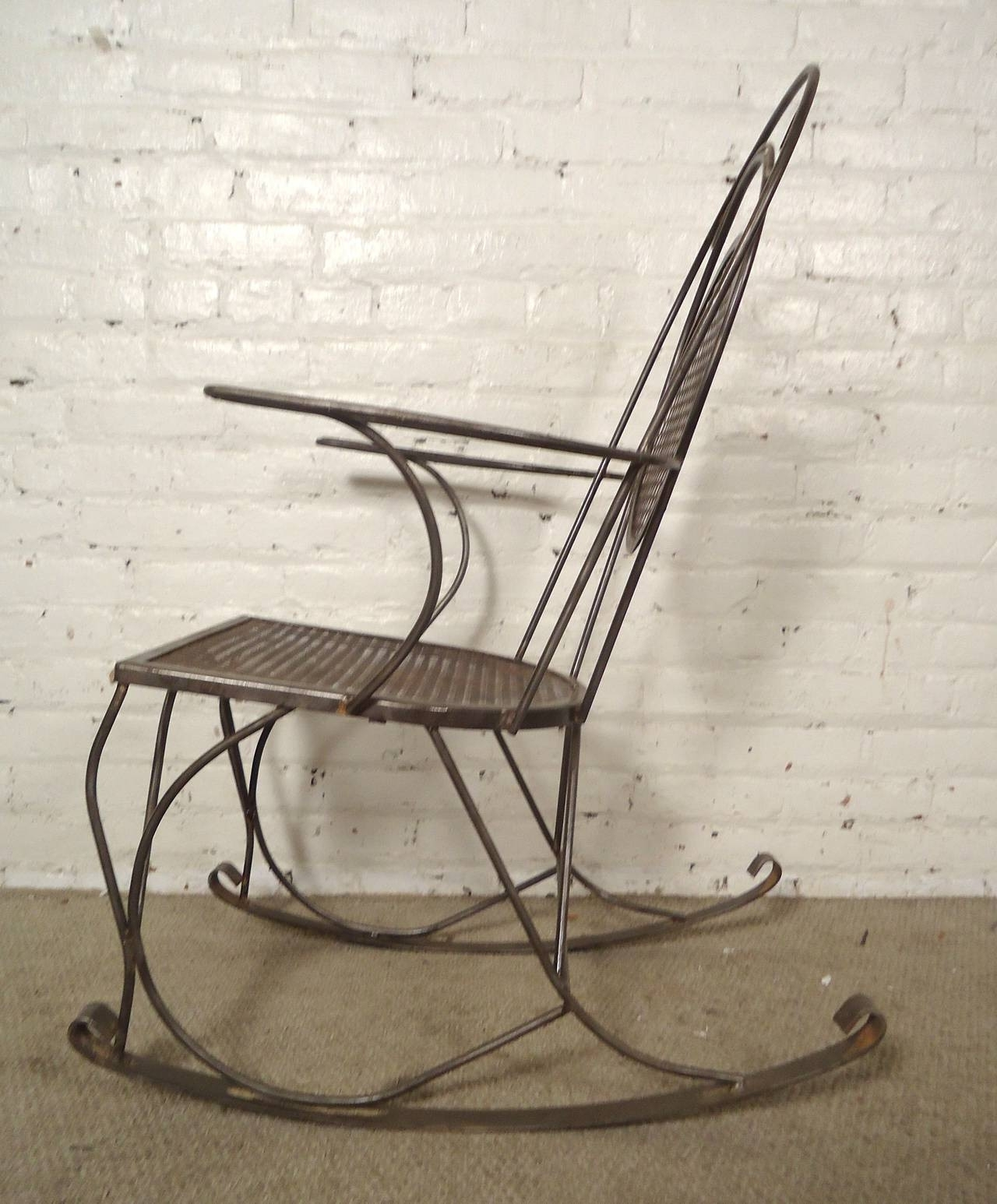 Vintage Metal Outdoor Rocking Chairs Outdoor Designs Design Of Within Popular Wrought Iron Patio Rocking Chairs (Gallery 15 of 20)