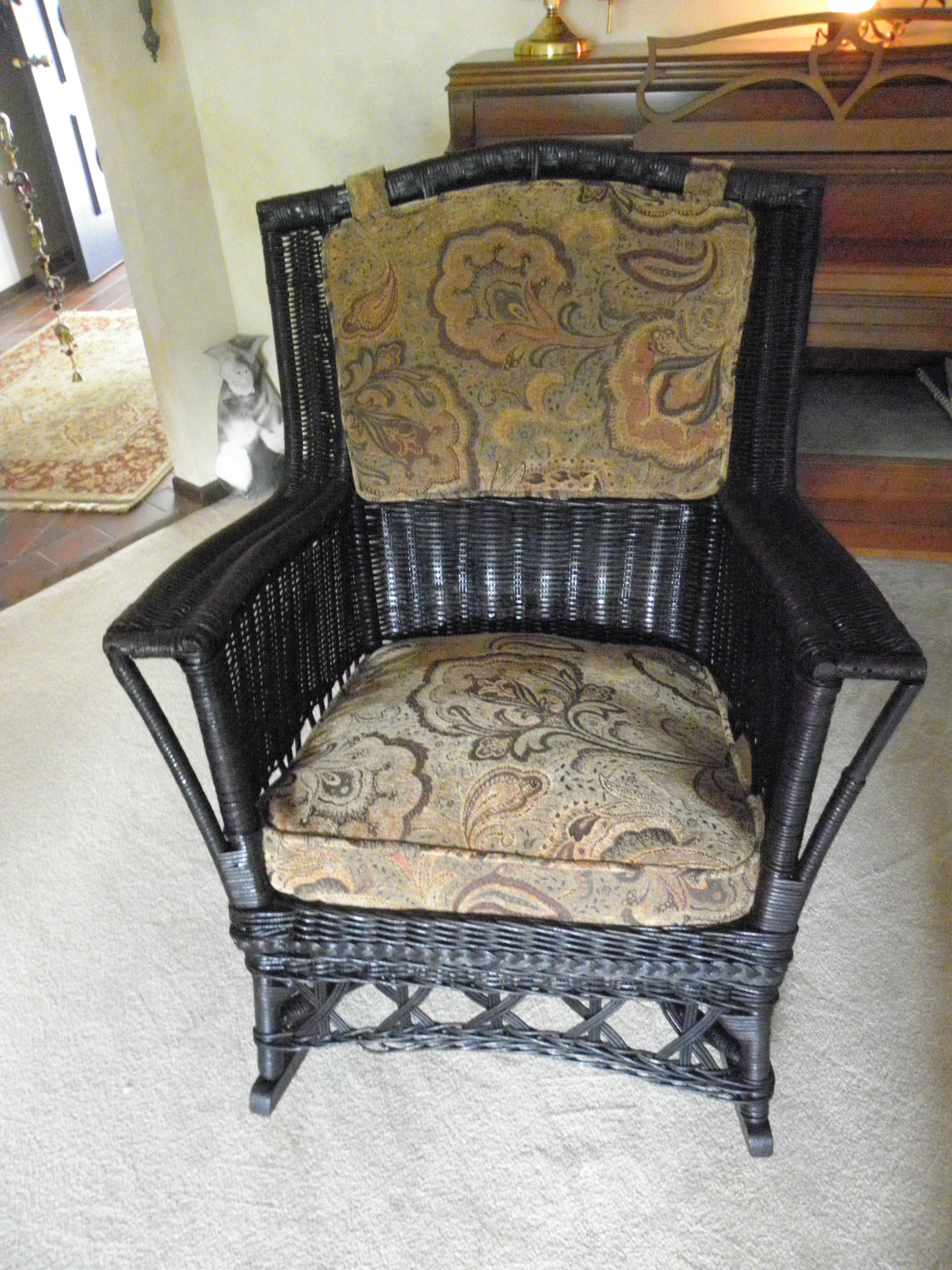 Vintage Wicker Rocking Chairs Intended For Famous Luxury Vintage Wicker Rocking Chair In Home Remodel Ideas With (Gallery 4 of 20)