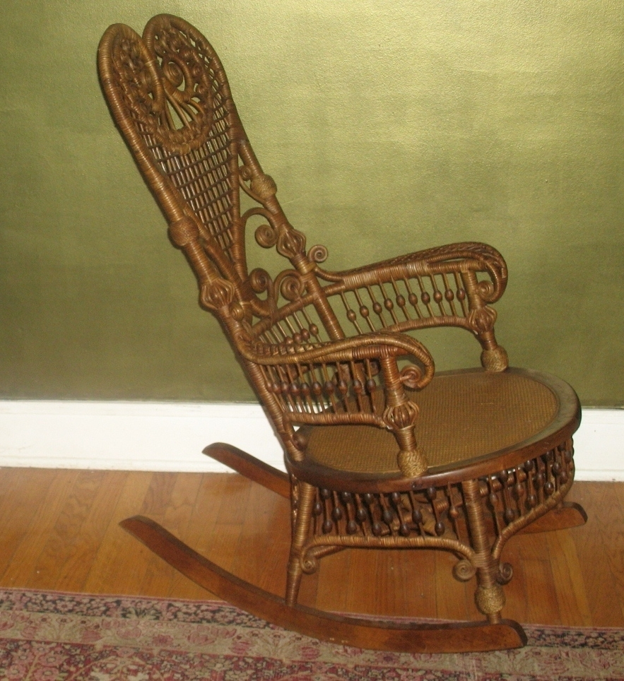Vintage Wicker Rocking Chairs With Well Known Vintage Wicker Rocking Chair – Rocking Chairs (View 16 of 20)