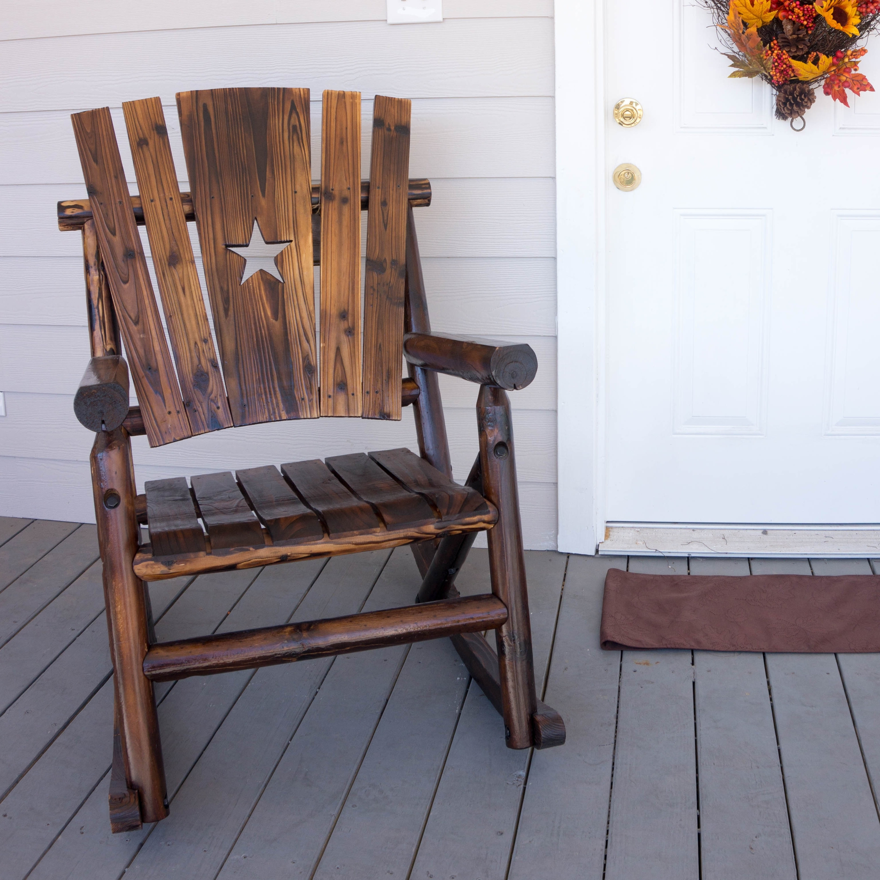 Wayfair Intended For Newest Char Log Patio Rocking Chairs With Star (View 9 of 20)
